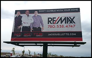 Billboard Advertising in Grande Prairie South of Costco